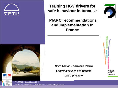 Training HGV drivers for safe behavior in tunnels