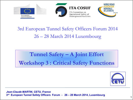Tunnel Safety – A Joint Effort