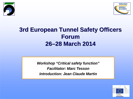 "Workshop ""Critical safety function"""