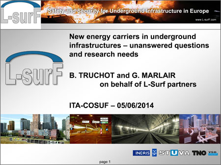 New energy carriers in underground infrastructures