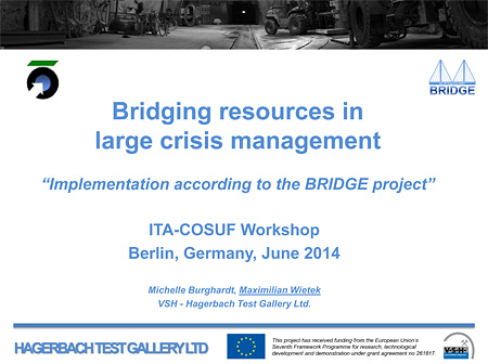 Bridging resources in large crisis management