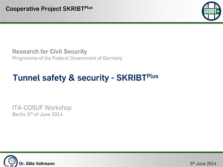 Tunnel safety & security - SKRIBTPlus