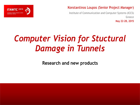 Computer Vision for Stuctural Damage in Tunnels