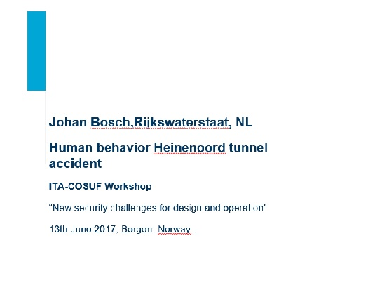 Human behavior Heinenoord tunnel accident