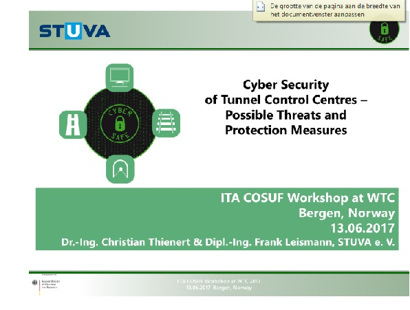 Cyber Security of Tunnel Control Centres – Possible Threats and Protection Measures