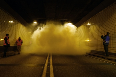 Tunnel ventilation demonstration in Hamburg